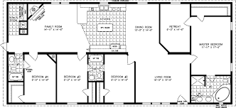 manufactured home floor plan the t n r model tnr 46814w 4 bedrooms