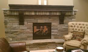 Open Stone Fireplace Mesmerizing Open Views Living Room Decors With Stacked Stones