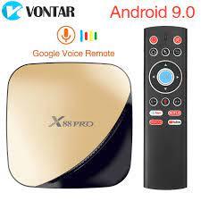 Ban Đầu X88 Pro X88pro Android 9.0 TV Box Smart Tivi Box RK3318 2.4/5G Dual  Wifi 4K HDR USB3.0 Google Play Store Netflix Youtube|Set-top Boxes