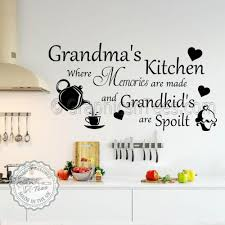 grandma s kitchen wall sticker memories are made quote with tea pot and cupcake wall decor decals on cupcake wall art stickers with grandma s kitchen wall sticker memories are made quote with tea pot