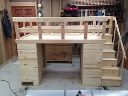 loft bed with shelves. Wonderful Loft Custom Made Loft Bed With Storage In Shelves