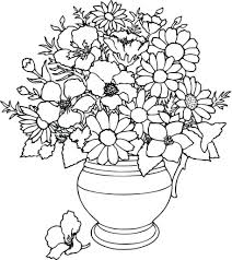 Printable Coloring Pages For Kids Roses Flowers Coloring Page Free