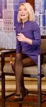 Kelly ripa wearing black pantyhose