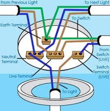 ceiling rose wiring diagram gooddy org how to wire a single pole switch with power at light at Wiring Diagram For Ceiling Light