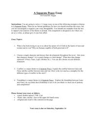 separate peace essay topics a separate peace essay