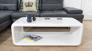 modern white gloss retro coffee table