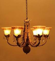 antique silver brown glass chandelier