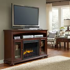 pleasant hearth everest electric media fireplace cherry finish ghp group inc