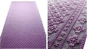 purple outdoor rug above available in custom sizes designer rug has handmade embroidery executed with a