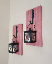modern farmhouse candle holders hanging