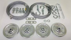 image is loading plete garage door pulley cable set for extension