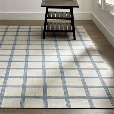 contemporary indoor outdoor rugs koen grid sky blue outdoor rug crate and barrel yvnppjt