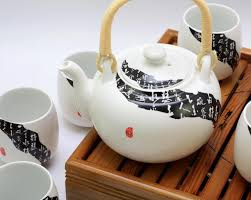 crown prestige seven piece bone china tea set gifts set clic black and white
