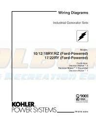 kohler product literature tp 5716 kohler generators online dealer kohler 20kw generator wiring diagram kohler wiring diagram manuals industrial generator sets models 10rz 10ry 12ry 12rz 18ry 18rz (ford