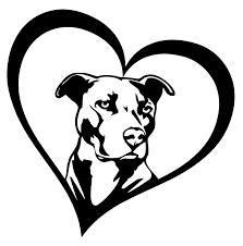 Details About Pitbull Heart Vinyl Decal Sticker Car Window Bumper