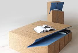 cork furniture. Cork And Felt Showcase The Concept Of Erosion In Furniture Design