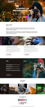 Photography Websites Templates Photography Course In Design Photography Website Templates 17