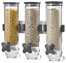 triple canister wall mounted dispenser clear
