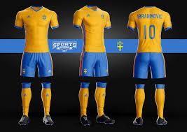Swedish Soccer Kit Uniform Template Adidas Sports Mockups Psd
