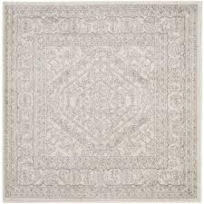 safavieh adirondack ivory silver 10 ft x 10 ft square area rug