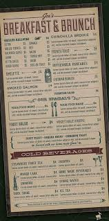breakfast menu template brunch menu templates free download