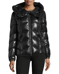 quick look moncler akebia hooded wave puffer jacket