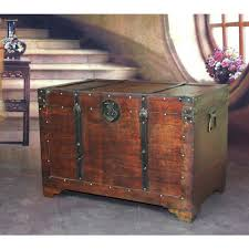 vintiquewise old fashioned wood storage trunk wooden treasure hope chest