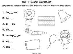 Print out the phonics worksheets and activities on this page so your students can learn about words with the gl. The Ll Sound Animated Powerpoint Presentation And Worksheets Teaching Resources