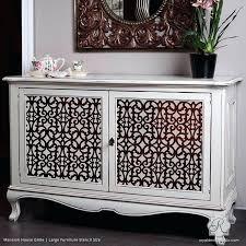 stencils furniture painted dresser with chic trellis patterns mansion house grille trellis furniture stencils royal design stencils furniture