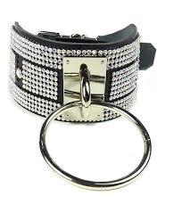 black rhinestone statement choker o ring leather collar diamond choker necklace black leather ab stone c1186q3is5h