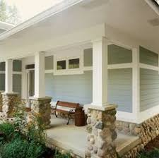 Porch Columns But Perhaps With Different Stone. House Columns, Porch Columns,  Porch Upgrades