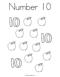 Small Picture Number 10 Coloring Page Coloring Pages