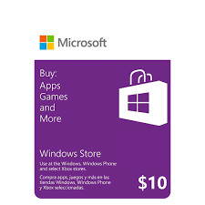 Microsoft Giftcard Microsoft Gift Card 10