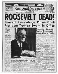 「1945, franklin roosevelt died, truman succeeded」の画像検索結果