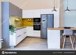 Moderne Wohnlandschaft Moderne Küchendesign Hellen Innenraum