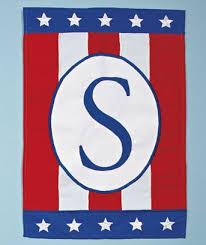 patriotic monogram garden flags in 2021