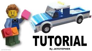 How to Build a Basic LEGO Pickup Truck TUTORIAL - YouTube