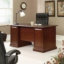 sauder heritage hill classic cherry 6 piece executive inside sauder office desk