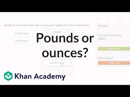 Pounds To Tons Chart Choose Pounds Or Ounces To Measure Weight Video Khan Academy