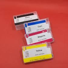 YOTAT <b>Empty</b> Refillable <b>711</b> ink cartridge for <b>HP711</b> HP <b>711</b> XL ...
