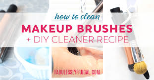how to clean makeup brushes diy makeup brush cleaner