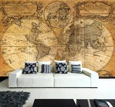 giant pirate ship wall decal wall removable sticker old vintage golden world map vinyl mural wall