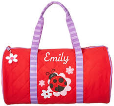 Personalized Quilted Duffle Bag, Ladybug, Name Emily at GlowRoad ... & Personalized Quilted Duffle Bag, Ladybug, Name Emily Adamdwight.com