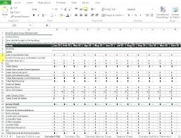 P And L Format Profit And Loss Statement Template For Restaurant With Pl