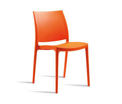 lode outdoor cafe chairs orange