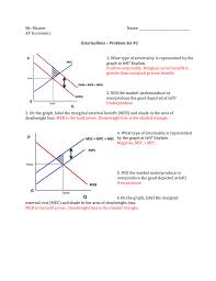 Negative Externality Graph Mr Maurer Name Ap Economics