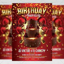 Birthday Anniversary Flyer Club A5 Template