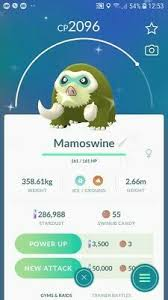 Shiny Mamoswine Swinub Evolution Trade Pokemon Go Ebay