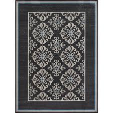 surprising hampton bay outdoor rugs astounding medallion blue border cream grey 5 ft x 7 indoor
