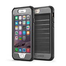 iphone 6 black and grey. anker ak-a7031011 ultra protective case with built-in screen protector for apple iphone iphone 6 black and grey o
